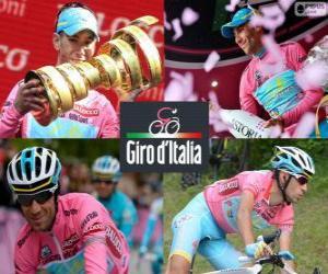 Puzzle de Vincenzo Nibali, campeón del Giro de Italia 2013