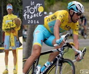 Puzzle de Vincenzo Nibali, campeón del Tour de Francia 2014