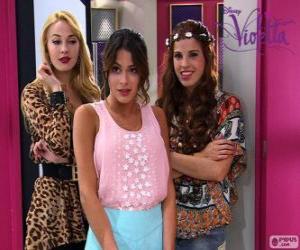 Puzzle de Violetta con Ludmila y Camila