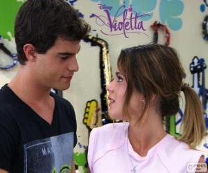 Puzzle de Violetta y Diego