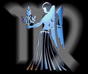 Puzzle de Virgo. La Doncella virgen. Sexto signo del zodíaco. Nombre en latín es Virgo