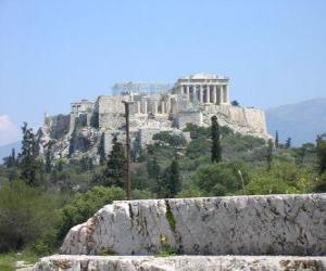 Puzzle de Vista de los templos de una ciudad griega