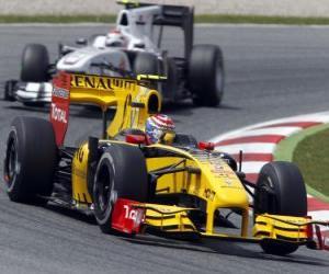 Puzzle de Vitaly Petrov - Renault - Barcelona 2010