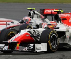 Puzzle de Vitantonio Liuzzi - HRT - Silverstone 2011