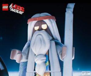 Puzzle de Vitruvius, el viejo hechicero de la película de la gran aventura de Lego