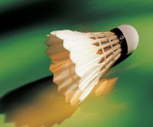 Puzzle de Volante o pluma para jugar a bádminton