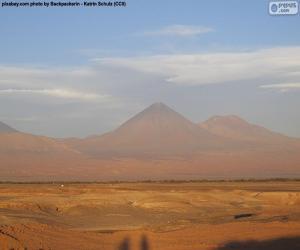 Puzzle de Volcanes en Atacama, Chile