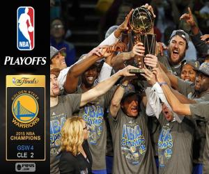 Puzzle de Warriors campeones NBA 2015