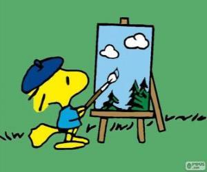 Puzzle de Woodstock Pintor