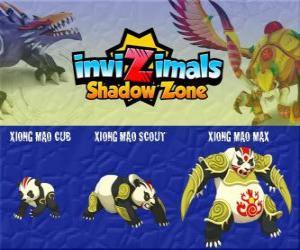 Puzzle de Xiong Mao Cub, Xiong Mao Scout, Xiong Mao Max. Invizimals La otra dimensión. Esta criatura gigante es el primer guardián de la tumba del Emperador Dragón