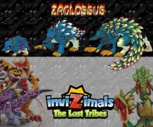 Puzzle de Zaglossus, última evolución. Invizimals Las Tribus Perdidas. Invizimal parecido a un puerco espín