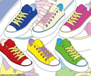 Puzzle de Zapatillas deportivas de colores
