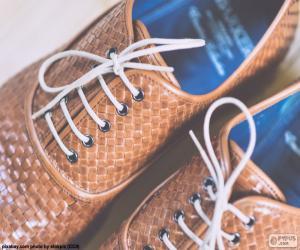 Puzzle de Zapatos de cuero hombre