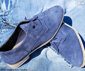 Puzzle de Zapatos de hombre azules