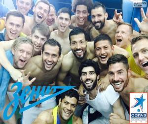 Puzzle de Zenit, campeón 2014-2015