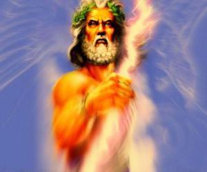 Puzzle de Zeus, el dios griego del Cielo y el Trueno y rey de los dioses olímpicos
