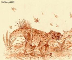 Puzzle de Zhuchengceratops que vivió a finales del período Cretácico, hace aproximadamente 75 millones de años