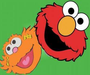 Puzzle de Zoe y Elmo