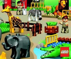 Puzzle de Zoológico de Lego
