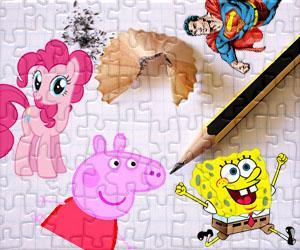 Puzzles de Personajes de dibujos