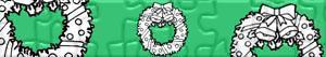 Puzzles de Coronas y guirnaldas navideñas