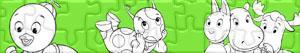 Juegos de puzzles de personajes de dibujos for Amiguitos del jardin