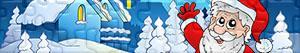 Puzzles de Papá Noel, renos y duendes