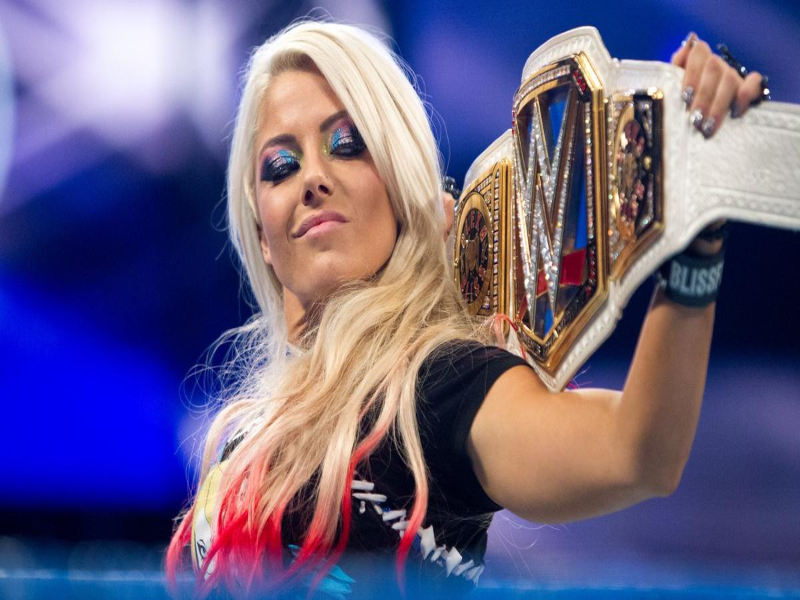 Alexa Bliss smack down womens champion puzzle