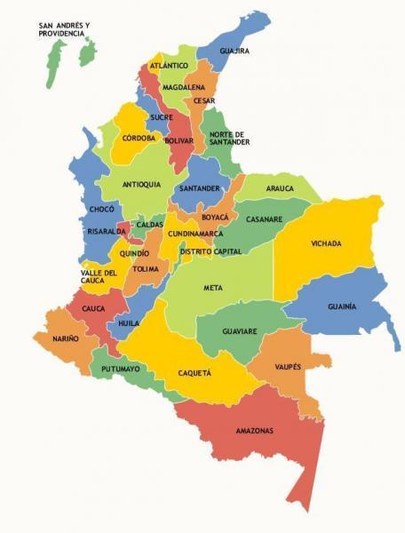 Puzzle de departamentos de Colombia , rompecabezas de