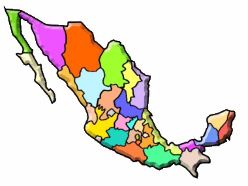 Puzzle De MAPA DE LA REPUBLICA MEXICANA , Rompecabezas De
