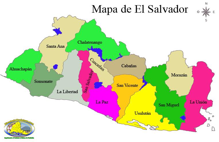 Puzzle de Mapa El Salvador  rompecabezas de