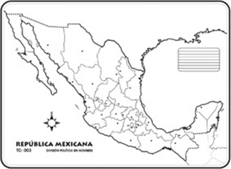 Puzzle De Mapa Republica Mexicana Rompecabezas De