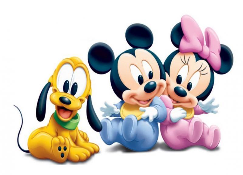 Puzzle de Mickey, Minnie y Goofy bebés , rompecabezas de