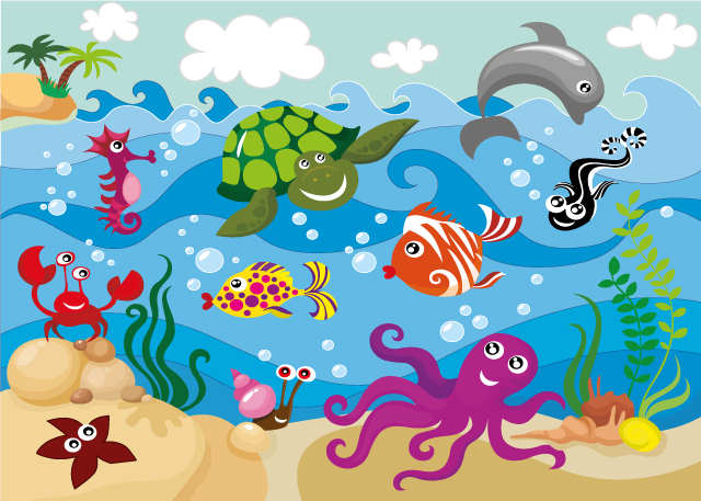 Puzzle de mundo acuatico rompecabezas de for Paisajes para murales de pared