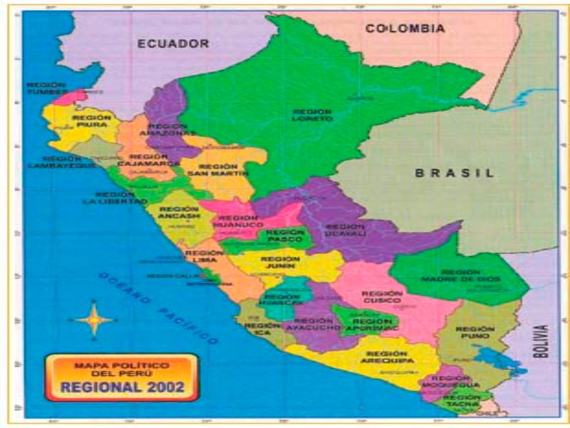 Puzzle De Rompecabezas Para Mapa Politico Del Perú